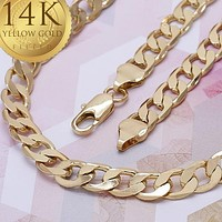 Gold Tone Men Mariner Basic Necklace, by Folks Jewelry