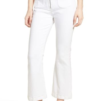 Current/Elliott The Ultra High Waist Kick Flare Jeans (Sugar) | Nordstrom