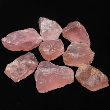 50G Natural Raw Pink Rose Quartz Crystal Rough Stone