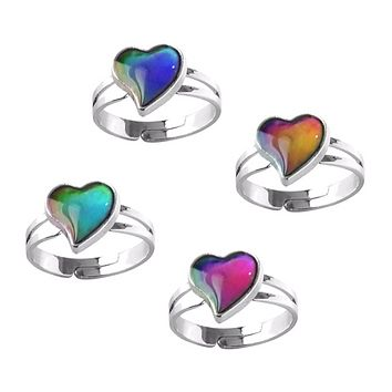 Heart Color Changing Adjustable Mood Ring