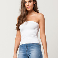 FULL TILT White Seamless Womens Tube Top