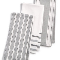 Martha Stewart Collection 3-Pc. Basket Weave Kitchen Towels, Created for Macy's | macys.com