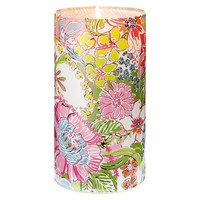 Lilly Pulitzer for Target Glass Hurricane Candle Holder - Nosey Posie (10)""
