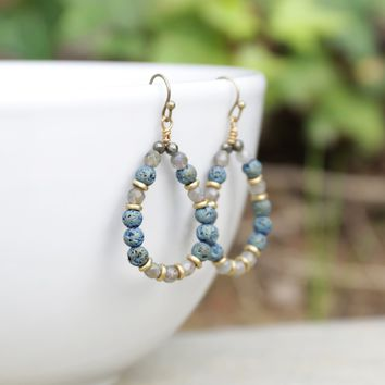 'Serendipity' Labradorite Aromatherapy Earrings