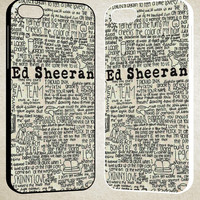 ed sheeran quotes F0423 iPhone 4S 5S 5C 6 6Plus, iPod 4 5, LG G2 G3, Sony Z2 Case