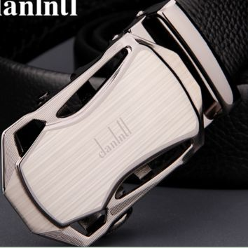 Man Automatic belt buckle leather free shipping