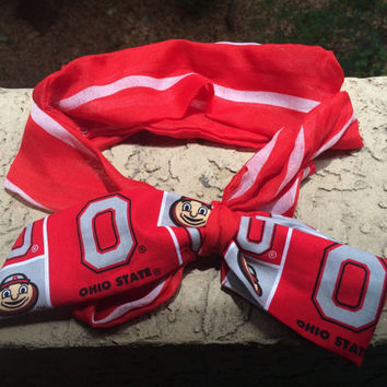 Ohio State Buckeyes youth/adult Headwrap