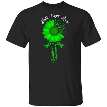 Faith Hope Love Green Lymphoma Cancer Awareness
