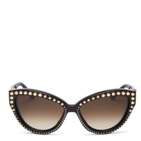Moschino Studded Cat Eye Sunglasses, 56mm | Bloomingdales's