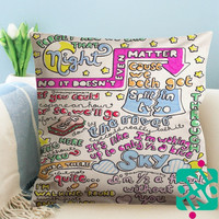 1D Midnight Memories Lyric Zippered Pillow Case, Cushion Case, Pillow case