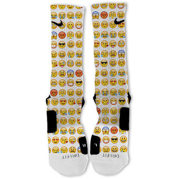 Smiley Emojis Customized Nike Elite Socks Fast Shipping!