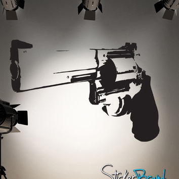 Vinyl Wall Decal Sticker 357 Magnum Weapon Gun #JH172