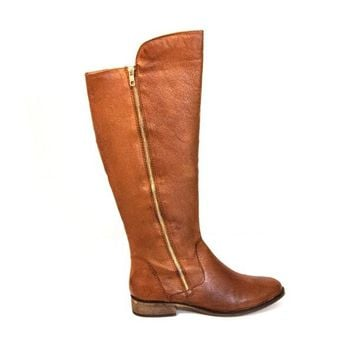 Steve Madden Shawny - Brown Leather Knee-High Riding Boot