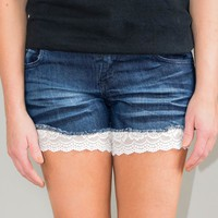 White Lace Thigh Cuff Extenders