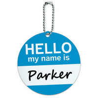 Parker Hello My Name Is Round ID Card Luggage Tag
