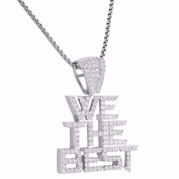 We The Best Pendant D Khaled Full Iced Out Simulated Diamonds