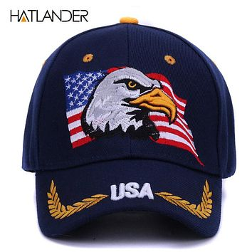 Summer baseball caps for men outdoor sun hat women embroidery Eagle USA sports hats curved cap