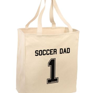 Soccer Dad Jersey Large Grocery Tote Bag by TooLoud