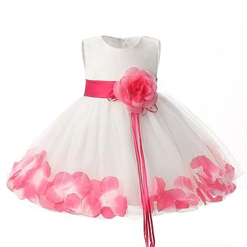 Newborn Bebes Girl Clothes Flower Girl Dress For Wedding Party Tulle Infant Christening Gown Baby Girl 1 Year Birthday Outfits