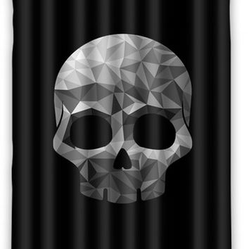 "Diamond Skull Shower Curtain bathroom Waterproof 66""x72"""
