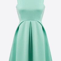 Mint Fit And Flare Dress