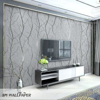 European 3D Embossed Washable Wallpaper Home Decor PVC Living Room Background Wall Paper