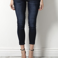 Flying Monkey Dark Cropped Skinny Jeans