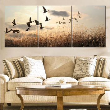3 Pieces Canvas Bird Paintings Wall Art Decor Canvas Art Posters Oil Painting Unframed Landscape Cuadros Decoracion Home Decor