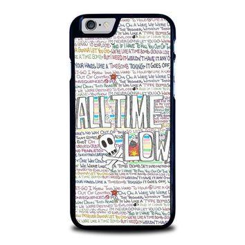 all time low writting iphone 6 6s case cover  number 1
