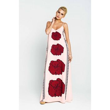 "Women's pink maxi dress ""Poppy"""