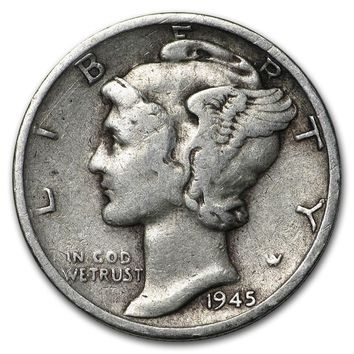 1945-S Mercury Dime Good/VF