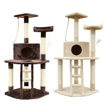 """50"""" Cat Tree House And Scratching Posts For Climbing Cat Furniture"""