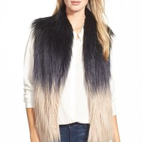 Women's Buffalo by David Bitton Ombre Faux Fur Vest,