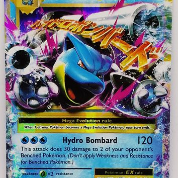MEGA BLASTOISE EX 22/108 FULL ART ULTRA RARE HOLO XY Pokemon Evolutions TCG HOT