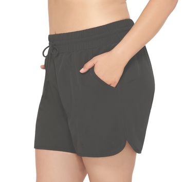 Christina Plus Size Swim Shorts with Built in Brief