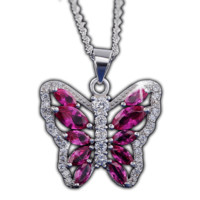Elegant Crystal Butterfly Necklace