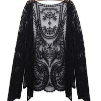 'The Namie' Floral Lace Crochet Cardigan