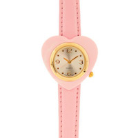 Having a Heart Time Watch in Pink | Mod Retro Vintage Watches | ModCloth.com
