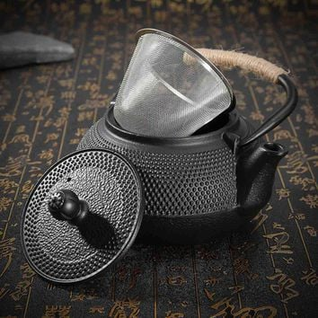 Japanese Cast Iron Teapot Tea Infusers Metal Net Filter Kung Fu Tea Pot Kettle Home Coffee Tea Brewing Tools Drinkware 800ml
