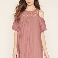 Contemporary Lace-Panel Dress