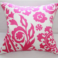 Pillow Covers Slip Cover for 18x18 Pillow Insert in Candy & White