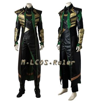 THOR 2 The Avengers 1 Ragnarok Loki Cosplay Costume Halloween Outfit Custom Made Full Set