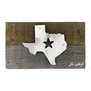 Texas Star Wood & Metal Art Wall Decor