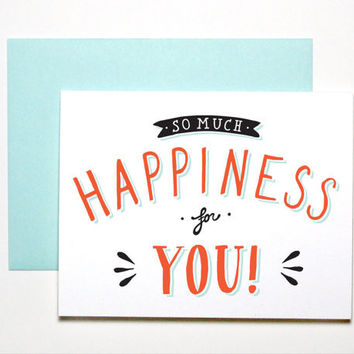 So Much Happiness for You Card