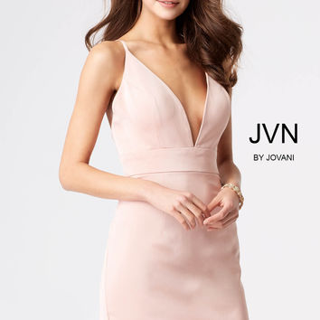 Jovani JVN57292 Solid V-cut Dress