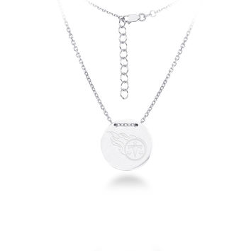 Tennessee Titans Silver Necklace with Round Pendant