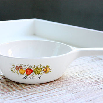 Vintage 1970s Corning Ware Le Persil Menu-Ette / Skillet / Corning Menuette / 1 Pint Pan / Kitchenware / Made In The USA / Casserole Dish