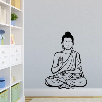 DCTOP Meditating Buddha Decal DIY Removable Art Wall Sticker Mural   Design House Decoration For Living Room
