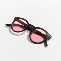 Ella Painted Metal Round Sunglasses | Urban Outfitters
