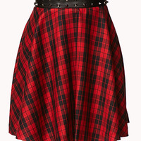 Rebel Plaid Skater Skirt